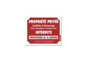 Panneau PROPRIÉTÉ PRIVÉE - CUEILLETTE INTERDITE