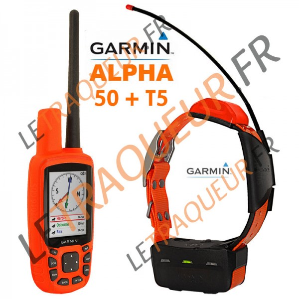 pack garmin alpha 50 avec collier t5. Black Bedroom Furniture Sets. Home Design Ideas