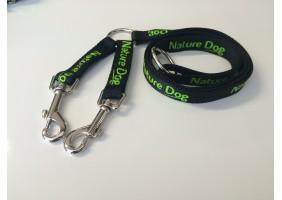 Laisse double coupleur naturedog