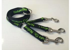 Laisse tripleur plate Naturedog