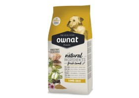Croquettes pour chiens Classic Lamb & Rice Ownat 20kg