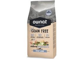 Croquettes pour chien Just Grain Free Adult Lamb Ownat 14 kg