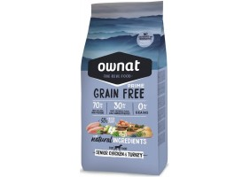 Croquettes pour chien Grain Free Prime Senior Chicken & Turkey Ownat 3 kg