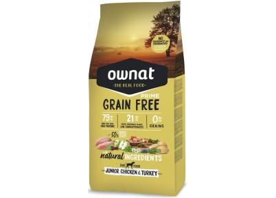 Croquettes pour chien Grain Free Prime Junior Chicken & Turkey Ownat 14 kg