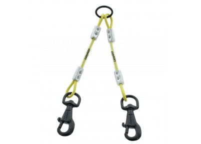 Accouple 2 chiens cable fluo