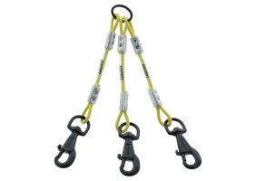 Accouple 3 chiens cable fluo