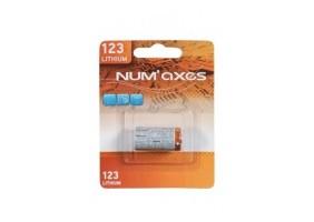 Pile lithium 123 3 volts Num'Axes